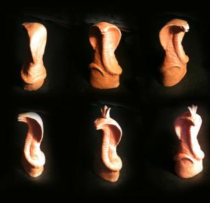 Терракотовая фигура для изготовления шокоадной фигуры.