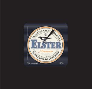 """Дизайн этикетки для пива """"ELSTER"""" (сорока)."""